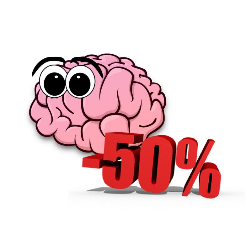 Spesso il nostro cervello funziona al risparmio: come se ci fossero i saldi